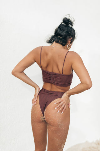 CANDICE TOP - RUST SECOND SKIN