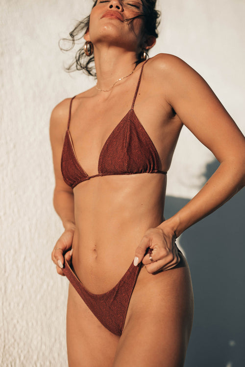 TAYLOR BIKINI TOP - RUST SECOND SKIN
