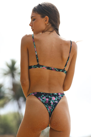 HUNTER BIKINI BOTTOM - ECO ROSE GARDEN