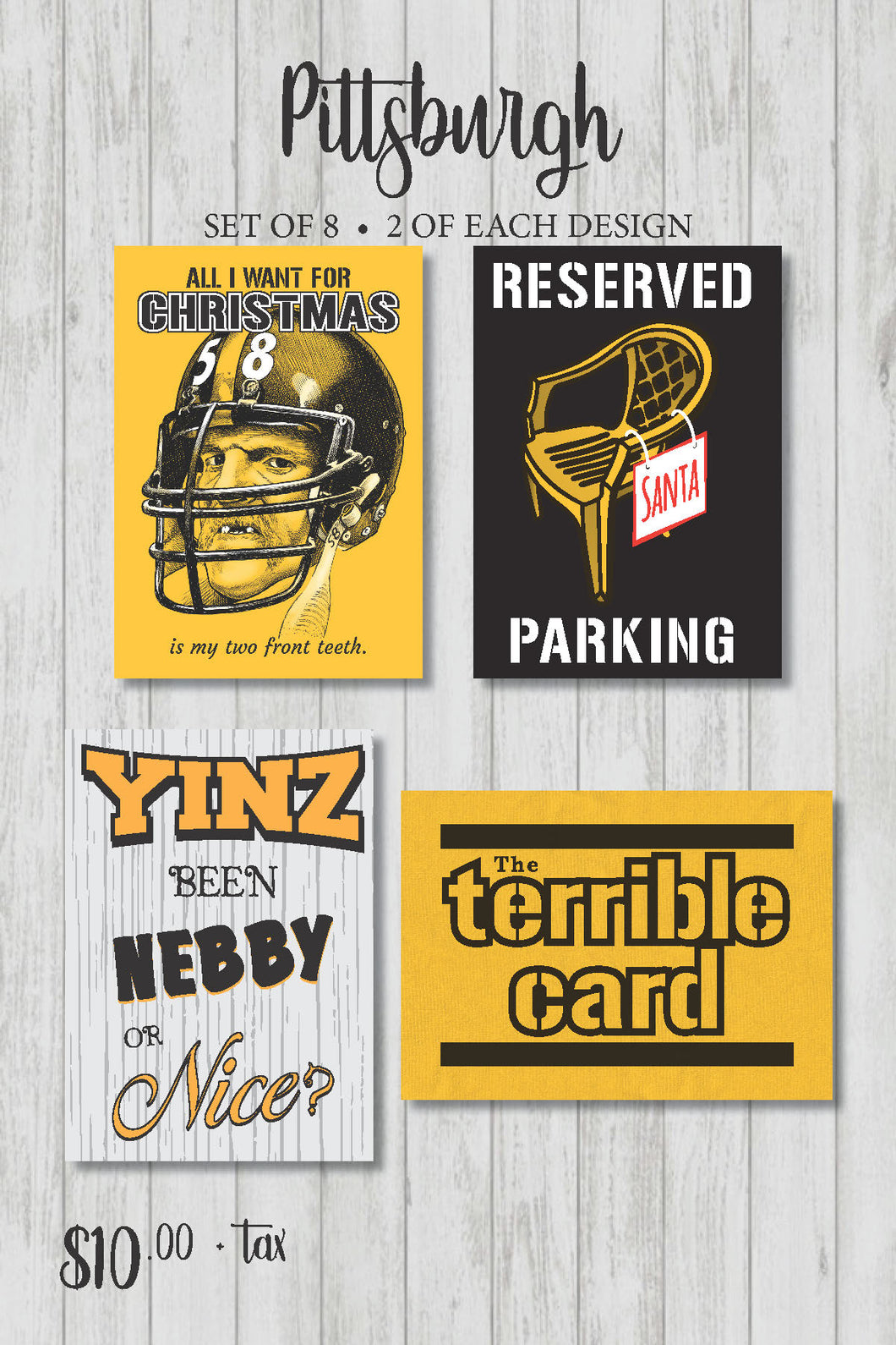 Pittsburghese Holiday Card Pack (Series 2)