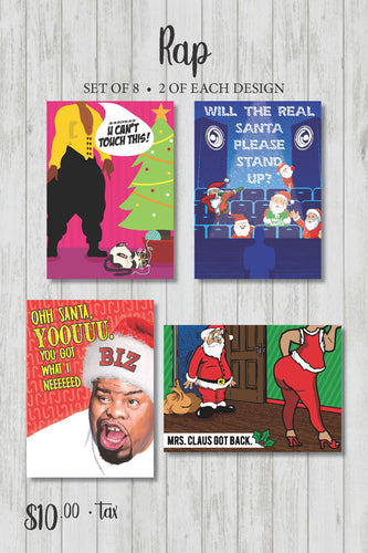 Rap Holiday Card Pack (Series 2)