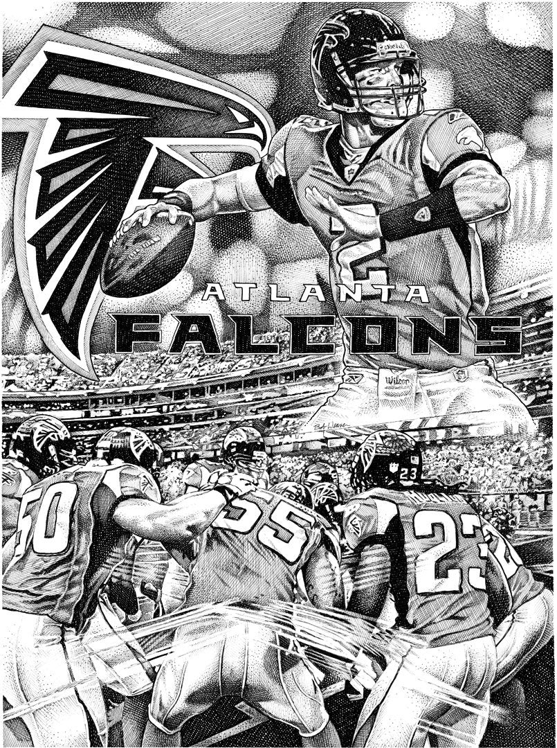 "Atlanta Falcons Stainless Steel Wrap (8""x10"")"