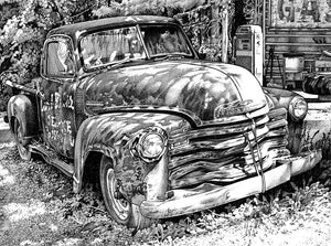 "Chevy Truck - Junkyard Series Stainless Steel Wrap (8""x10"")"