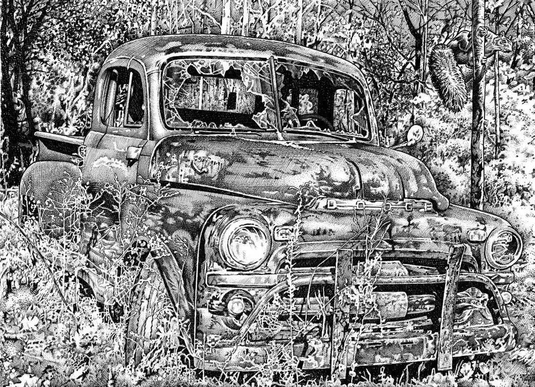 "Dodge Truck - Junkyard Series Stainless Steel Wrap (8""x10"")"
