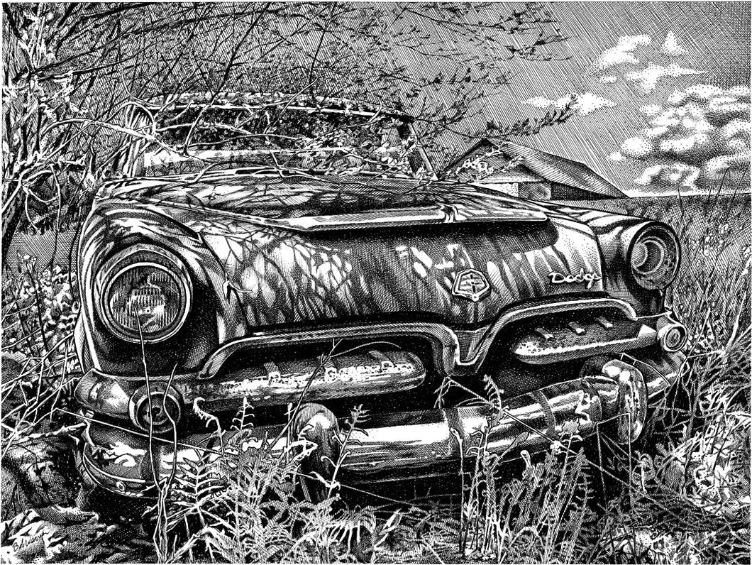 "Dodge Royal - Junkyard Series Stainless Steel Wrap (8""x10"")"