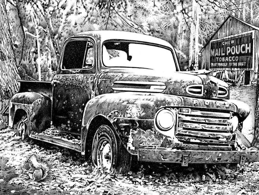 "Ford Truck - Junkyard Series Stainless Steel Wrap (8""x10"")"