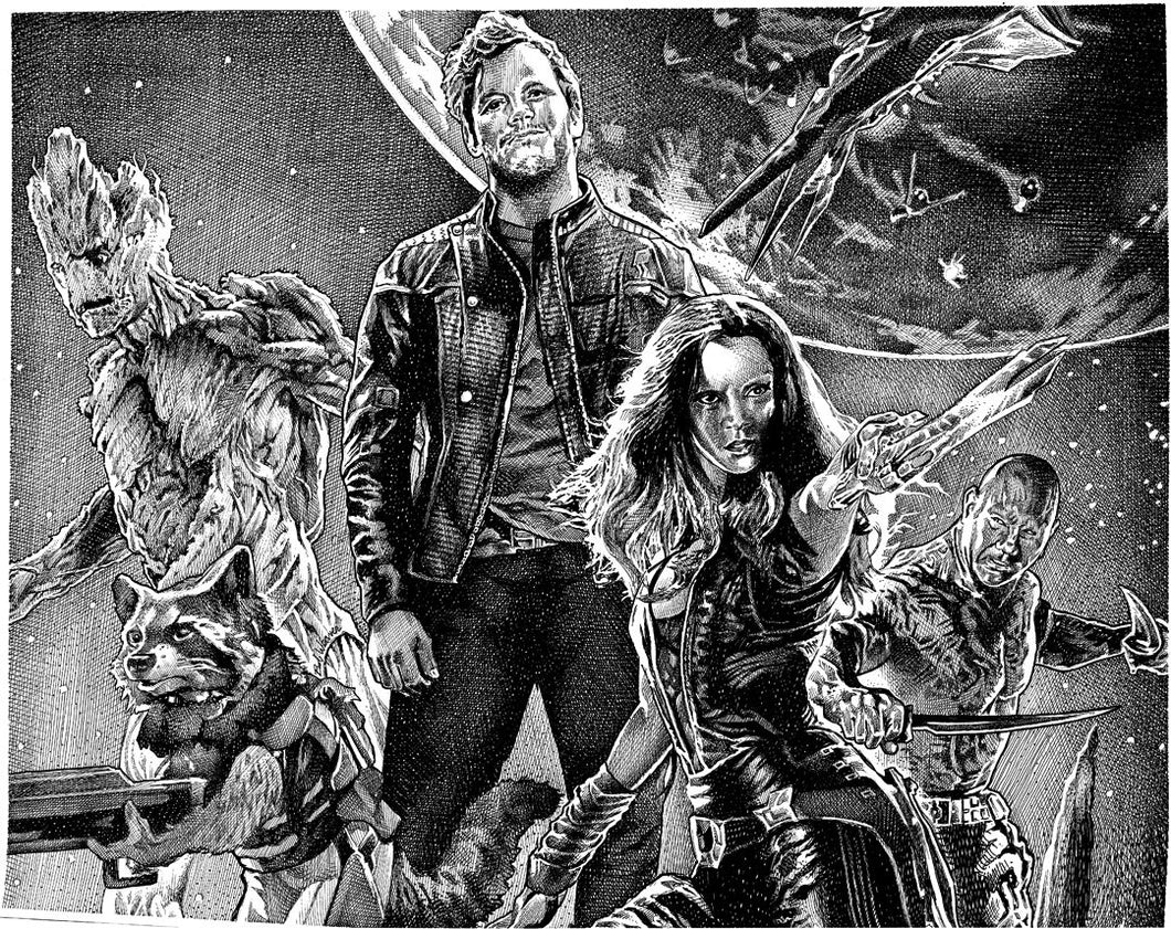 "Guardians of the Galaxy Stainless Steel Wrap (8""x10"")"