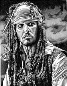 "Jack Sparrow Stainless Steel Wrap (8""x10"")"