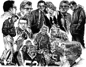 "Joe Paterno Collage Stainless Steel Wrap (8""x10"")"