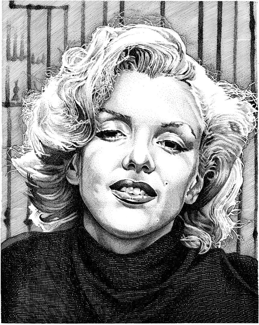 "Marilyn Monroe Stainless Steel Wrap (8""x10"")"