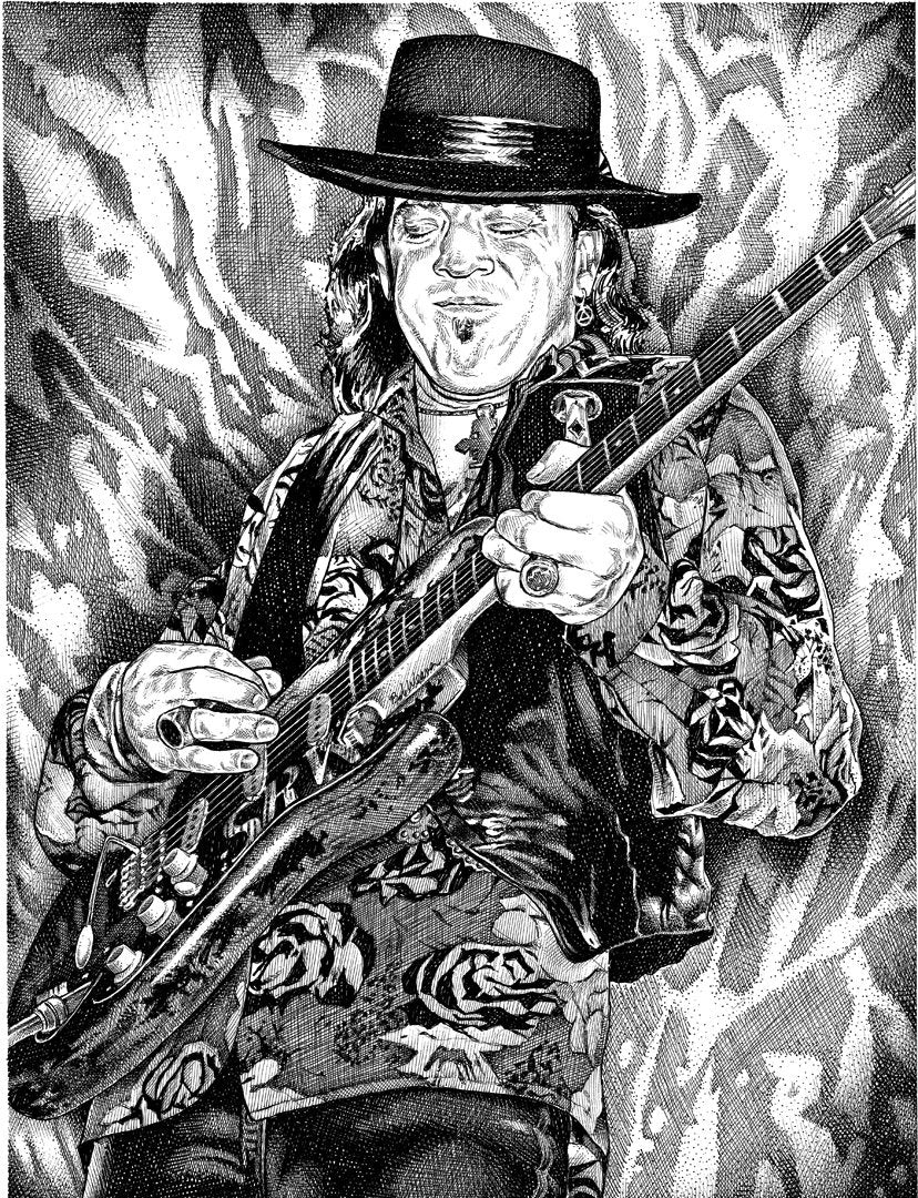 "Stevie Ray Vaughn Stainless Steel Wrap (8""x10"")"