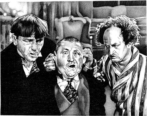 "Three Stooges Stainless Steel Wrap (8""x10"")"
