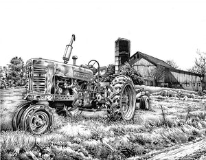 "Tractor Stainless Steel Wrap (8""x10"")"