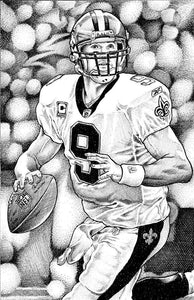 "Drew Brees Stainless Steel Wrap (8""x10"")"
