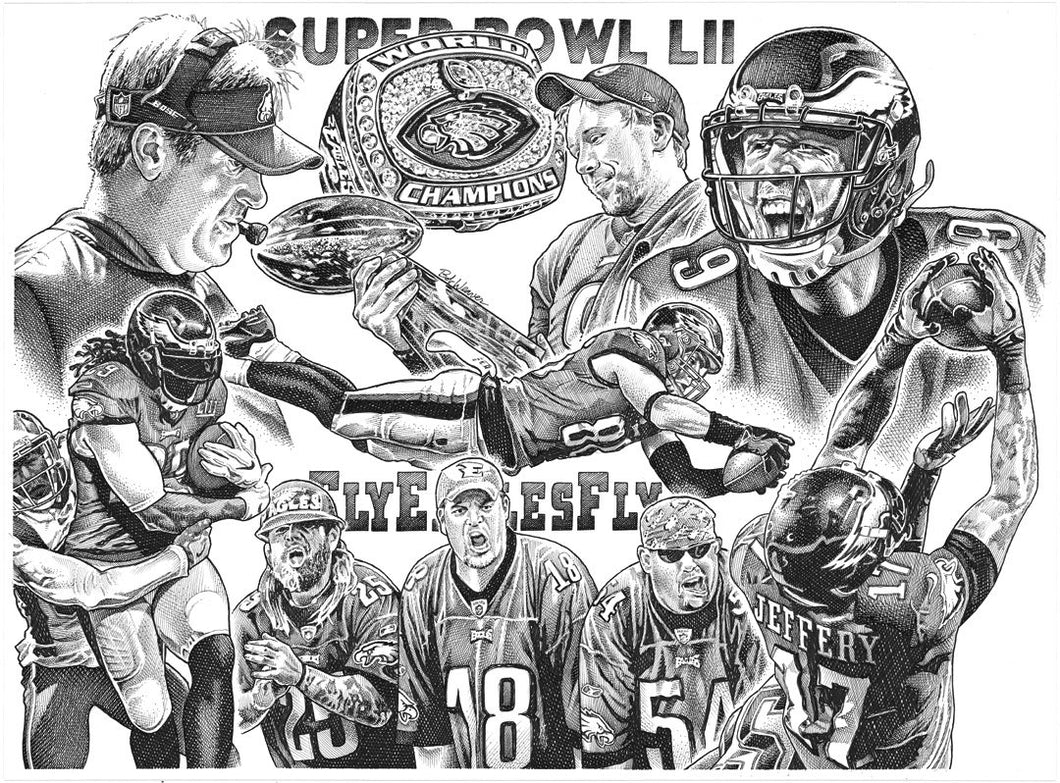 "Eagles Super Bowl Stainless Steel Wrap (8""x10"")"