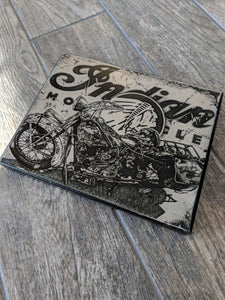 "Indian Motorcycles Stainless Steel Wrap (8""x10"")"
