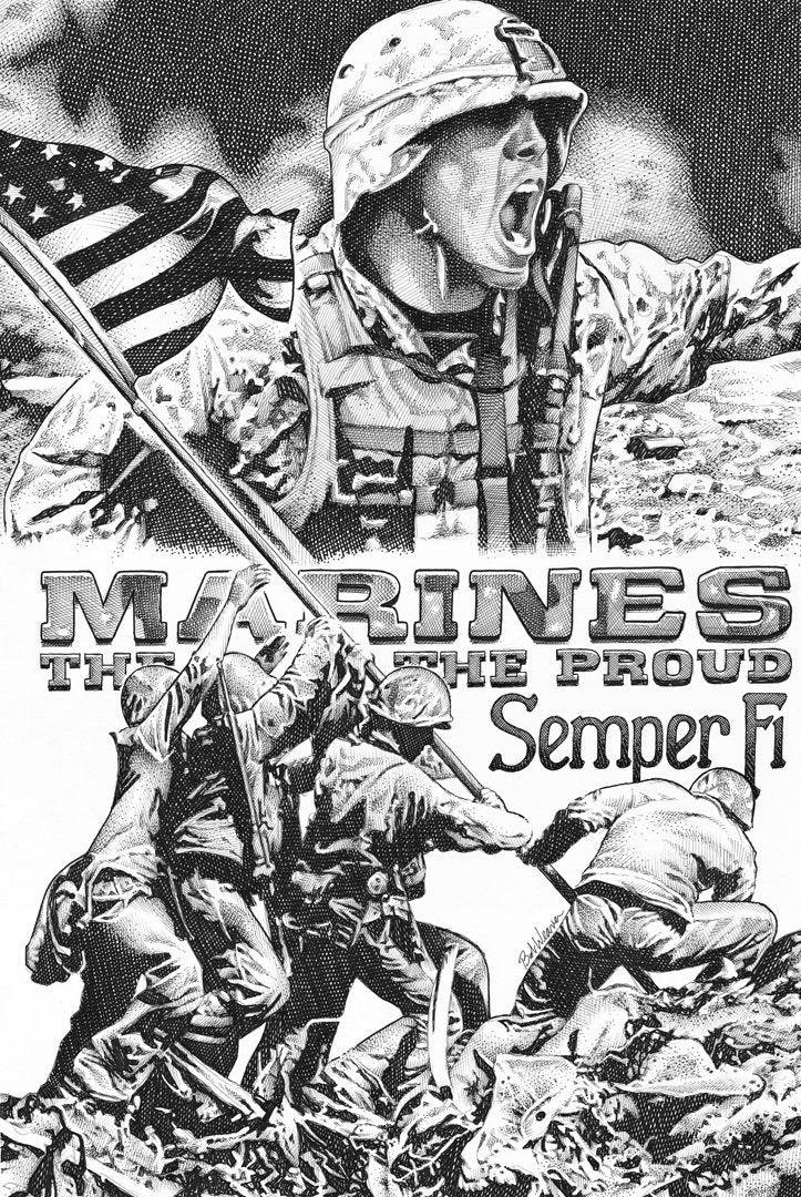 "Marines Stainless Steel Wrap (8""x10"")"