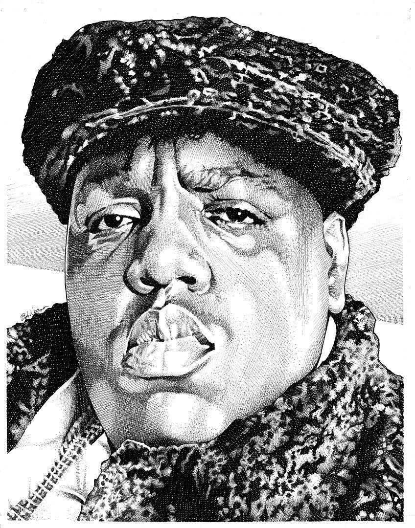 "Notorious BIG Stainless Steel Wrap (8""x10"")"