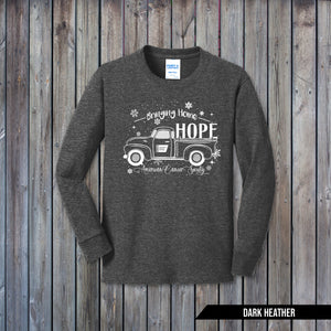 YOUTH LONG SLEEVE T-SHIRT - DARK HEATHER GREY