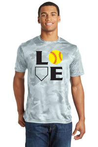 L-O-V-E Softball Camo Shirt