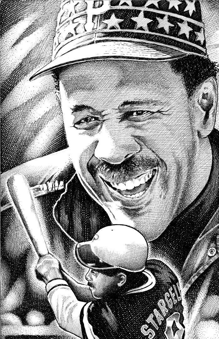 "Willie Stargell  Stainless Steel Wrap (8""x10"")"