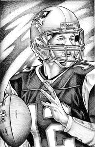 "Tom Brady Stainless Steel Wrap (8""x10"")"