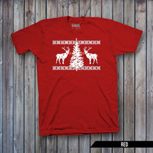 Red Nosed Reindeer Ugly Sweater (WHITE IMPRINT)