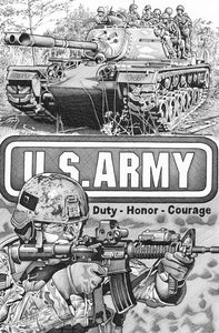 "US Army Stainless Steel Wrap (8""x10"")"