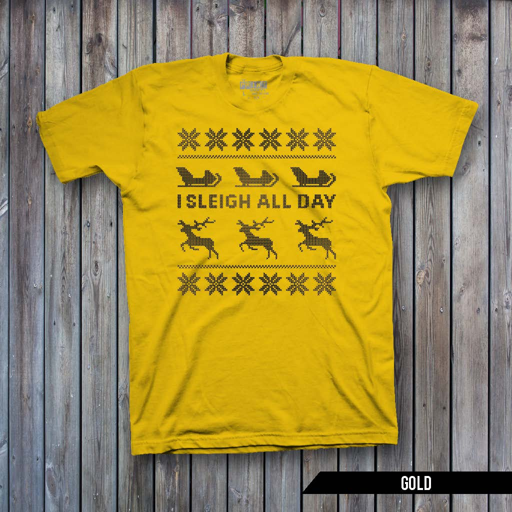 Sleigh All Day Ugly Sweater (BLACK IMPRINT)