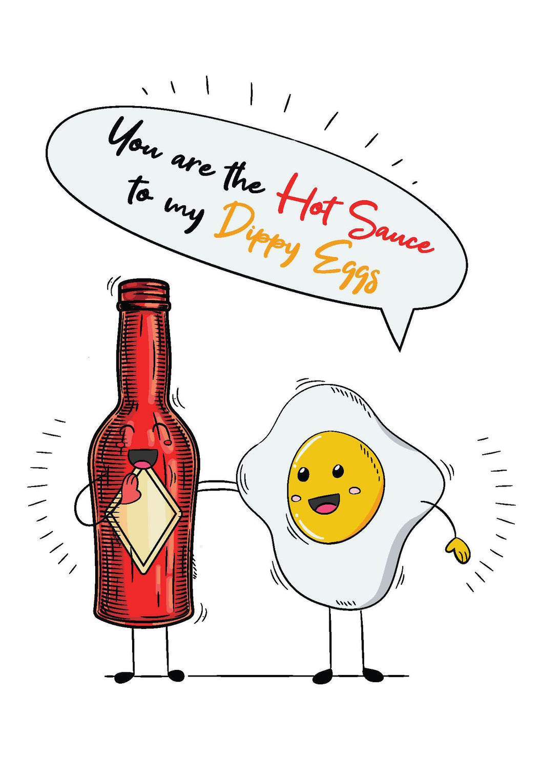 Valentine's Day Card - Hot Sauce, Dippy Egg