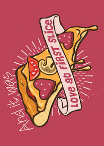 Valentine's Day Card - Love at First Slice