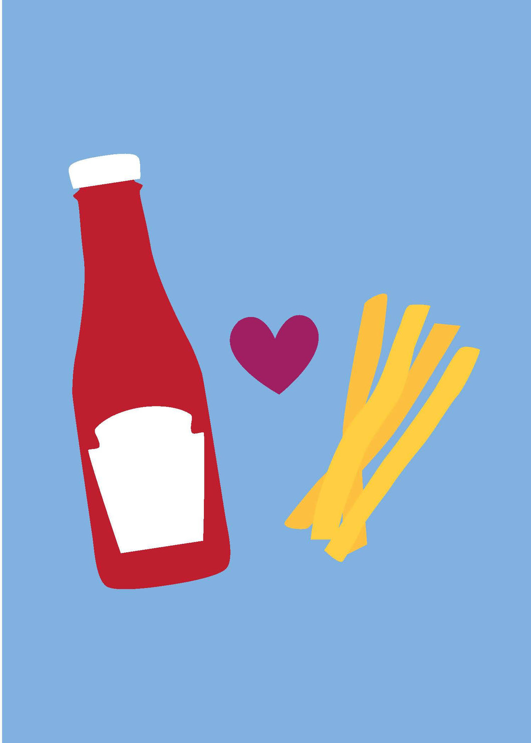 Valentine's Day Card - Ketchup and Fries