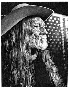 "Willie Nelson Stainless Steel Wrap (8""x10"")"