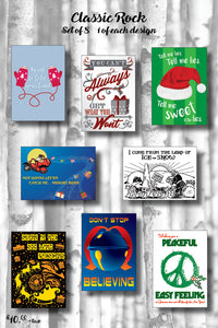 Classic Rock Holiday Card Pack (Series 1)