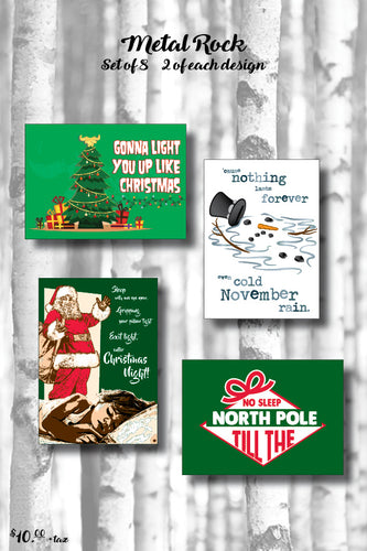 Metal Rock Holiday Card Pack