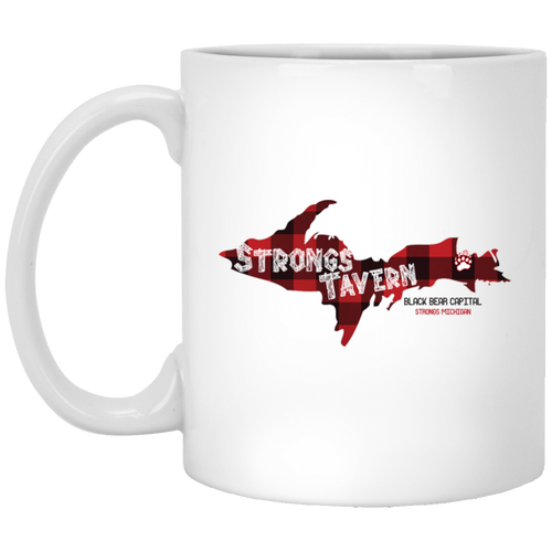 11 oz. White Logo Mug
