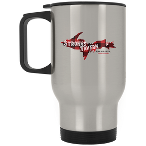 Silver Stainless Logo Travel Mug