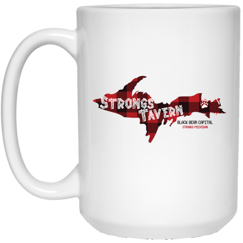 15 oz. White Logo Mug