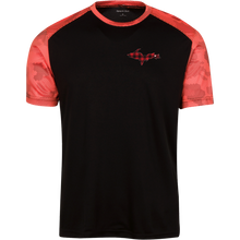 Sport-Tek Youth CamoHex Colorblock Logo T-Shirt