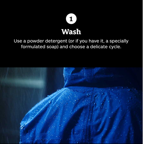 Wash your rain jacket (shell)