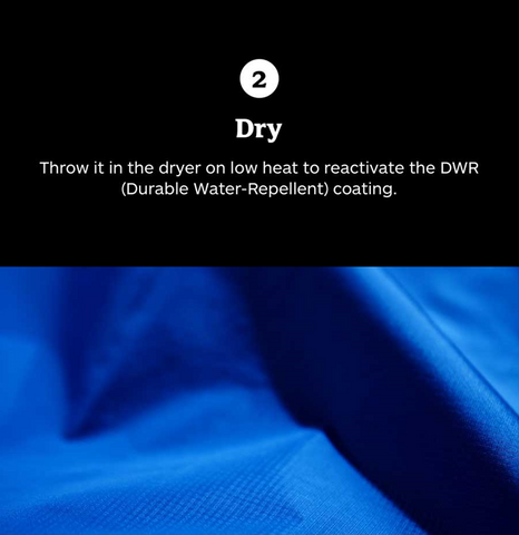 Dry your rain jacket (shell)