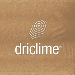 Driclime. Mechanically draws moisture away from your skin & keeps you dry & comfortable.