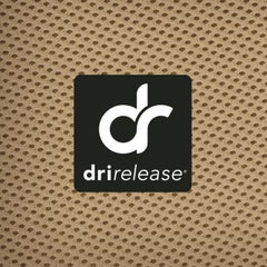 Drirelease. Grabs moisture away from the skin & pushes it to the outside of the fabric.