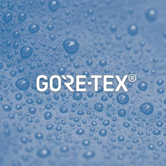 Gore Tex. Durably waterproof and windproof combined with optimised breathability.