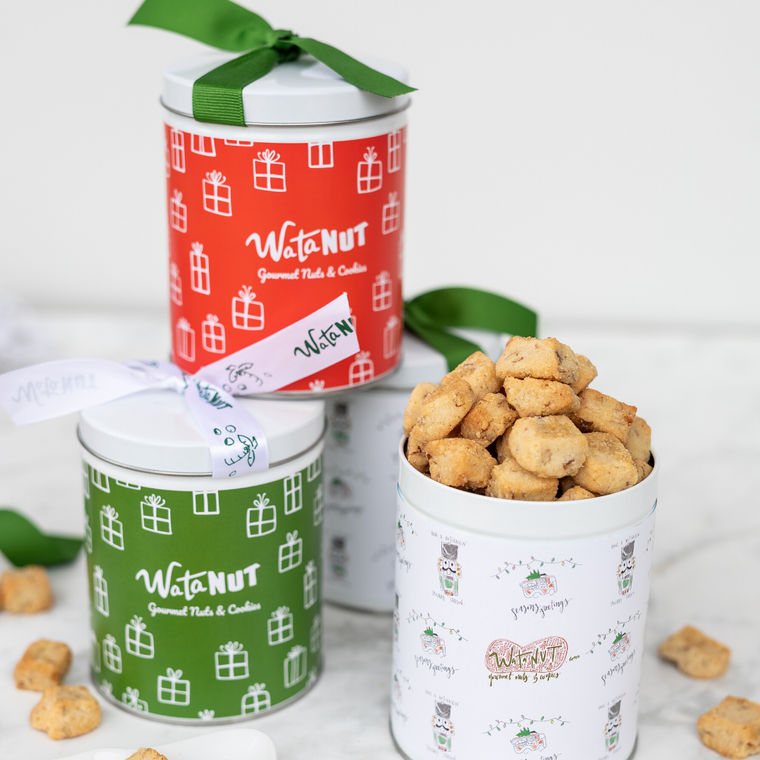10 oz Holiday Shortbread Cookie Tins