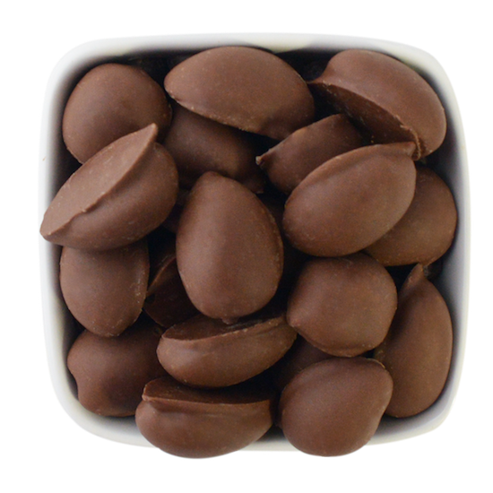 double dipped milk chocolate pecans
