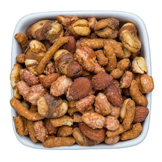gourmet nut mix ale yeah with hickory smoked almonds