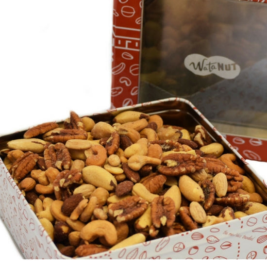 mixed nut gift tin
