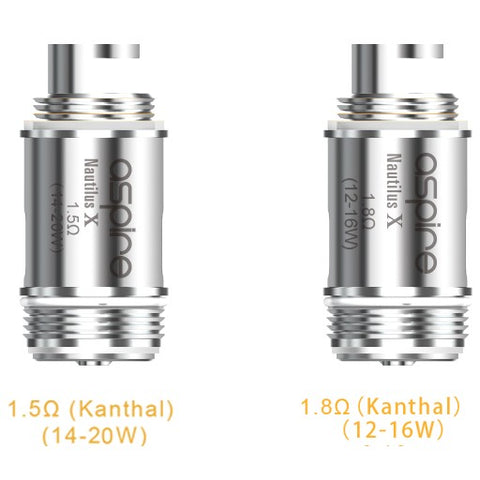 Nautilus X replacement Coil 1.5 and 1.8 ohm