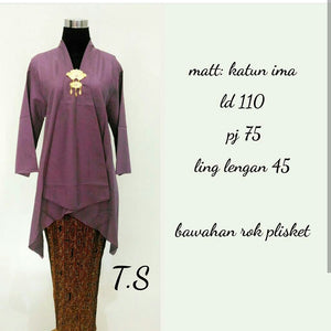Kebaya Kartini Ima Purple
